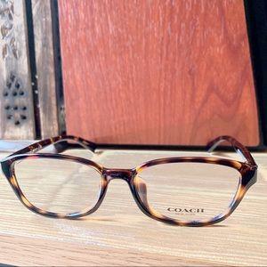 Coach Clear / Dark Tortoise Eyeglasses